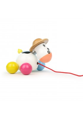 Baby rosy cow pull toy
