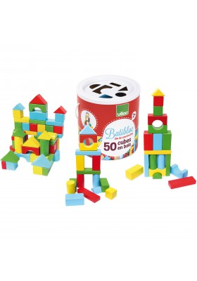 Set of 50 wooden blocks