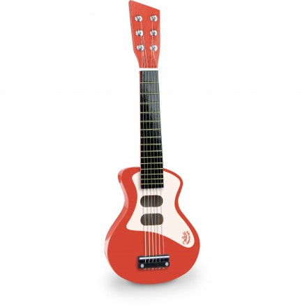 Red rock'n'roll guitar