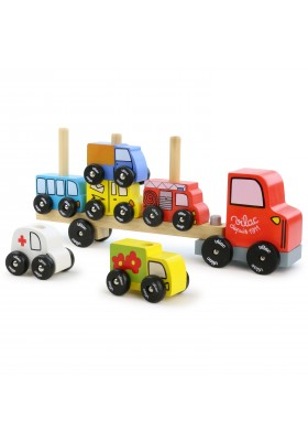 Truck & trailer with vehicules stacking game
