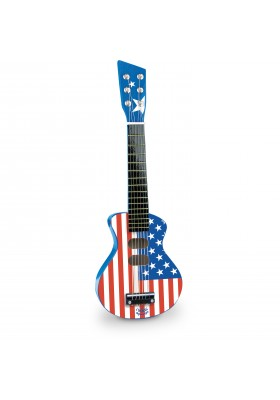 American flag rock 'n 'roll guitar