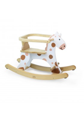 My first white rocking horse + removable hoop