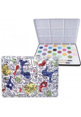 Keith Haring large metal painting set