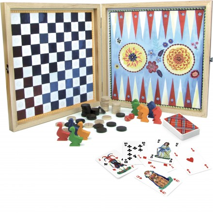 Set of classic board games